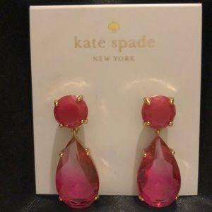 Kate Spade Crystal Drop Earrings NWT